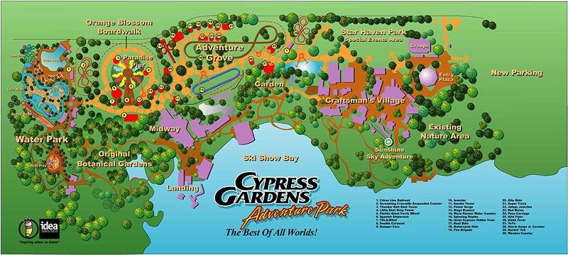 Cypress Gardens Adventure Park Florida Amusement Parks Com - Map of all us theme parks